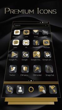 Black Gold X Launcher screenshot 2