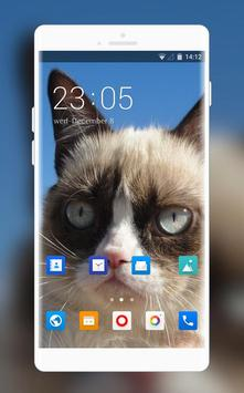 Theme for Xolo Play 8X-1100 Grumpy Cat Wallpaper poster