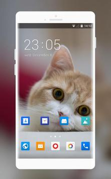 Theme for Xolo Q1200 Cat Wallpaper poster