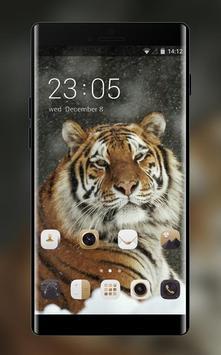 Theme for Xolo Q900 Tiger Wallpaper poster