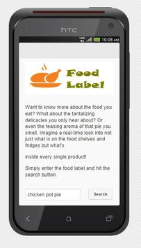 Food Label apk screenshot