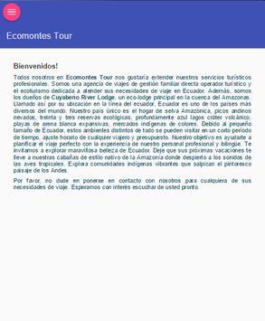 Ecomontestour apk screenshot