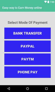 Easy Earn Money Online : Earn Free Cash apk screenshot