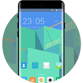 Theme for Mi A1: Abstract Lite Green Skin icon