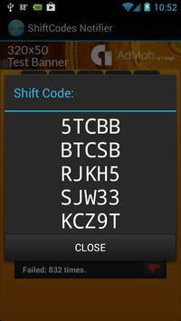 Shift Code Notifier screenshot 3