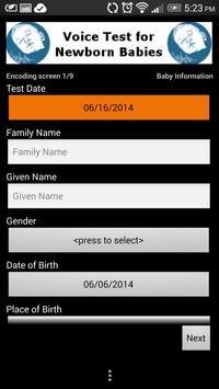 Voice Test for Newborn Babies screenshot 3
