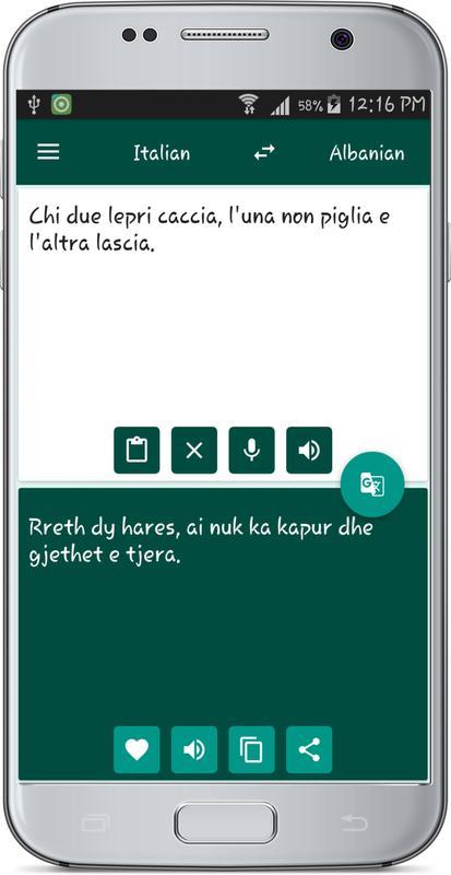 Translator Italian: Italian Albanian Translate Para Android