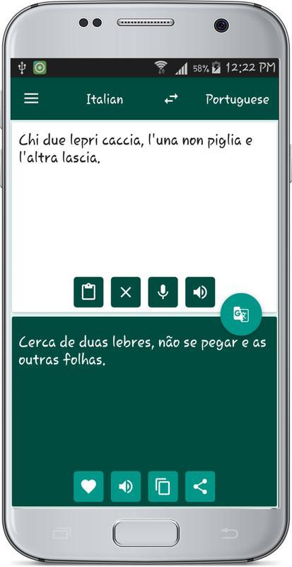 English To Italian Translator Google: Italian Portuguese Translate APK Baixar