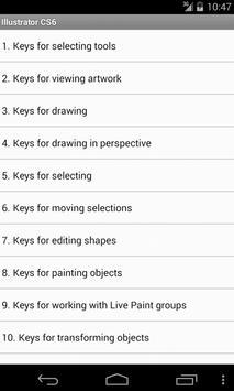 Free Illustrator CS6 Shortcuts screenshot 1