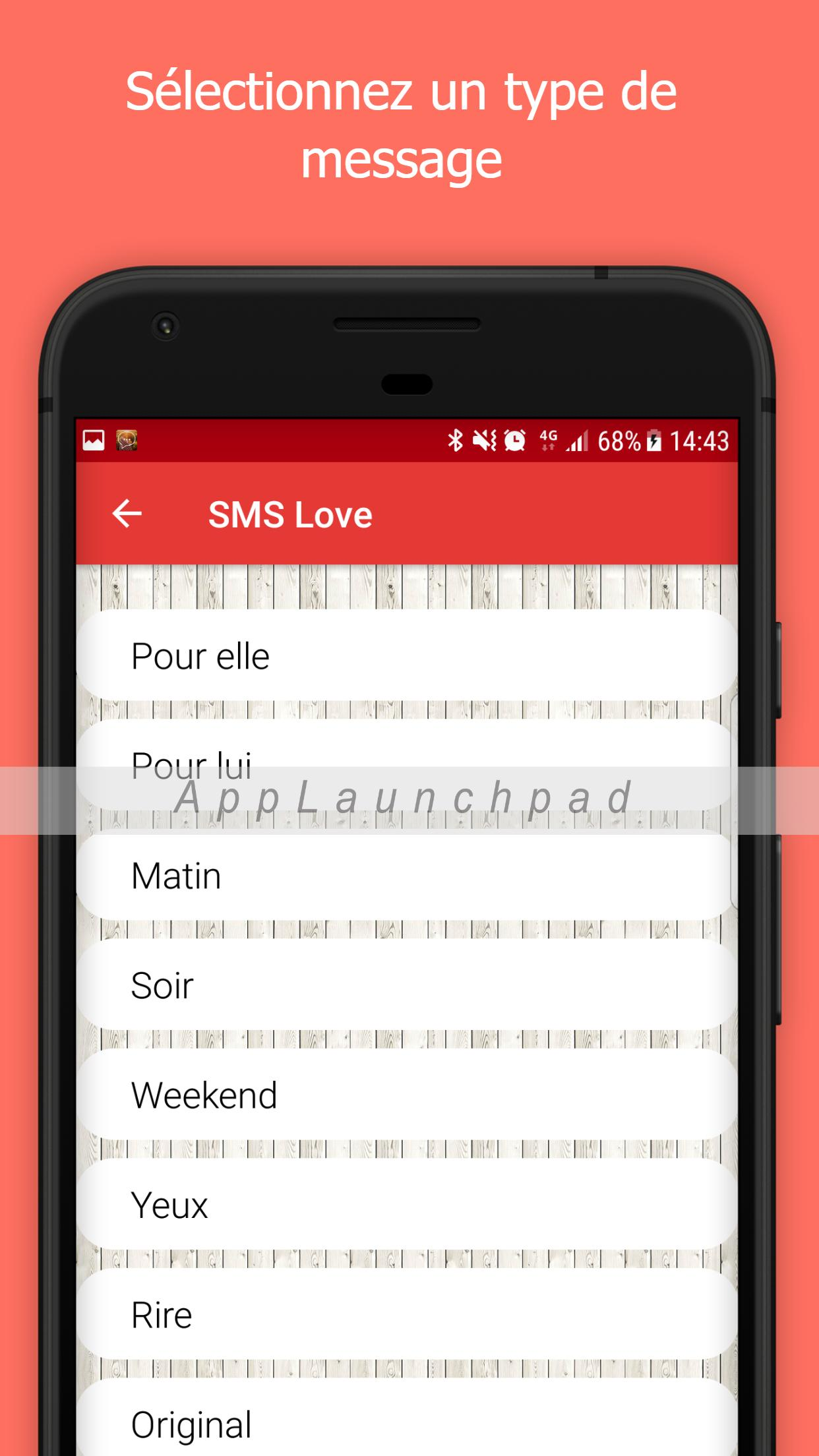 Sms Damour En Français Carte Virtuelle Mms For Android