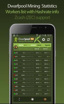 Dwarfpool Mining Statistics apk screenshot