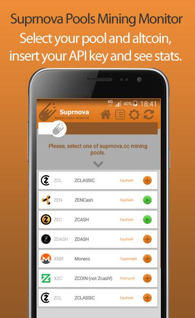 Suprnova Pools Mining Monitor for Android - APK Download