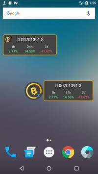 BitcoinZ Price Widget poster