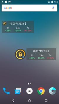 BitcoinZ Price Widget screenshot 1