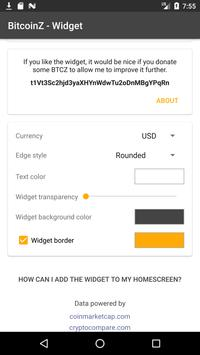 BitcoinZ Price Widget screenshot 3
