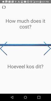 Learn English or Afrikaans Verbs, Vocab, & Grammar screenshot 5