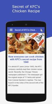Secret of KFC's Chicken Recipe apk screenshot