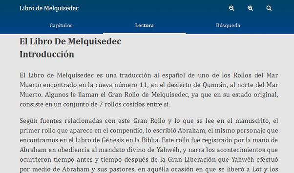 Libro de Melquisedec screenshot 2