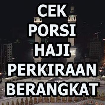 CEK PORSI HAJI INDONESIA poster