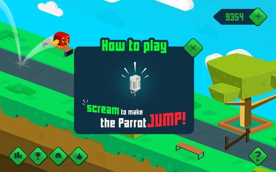 Go Parrot Scream - Voice Jump screenshot 1
