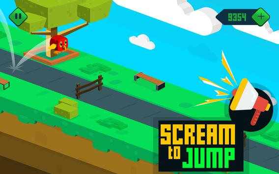 Go Parrot Scream - Voice Jump screenshot 3