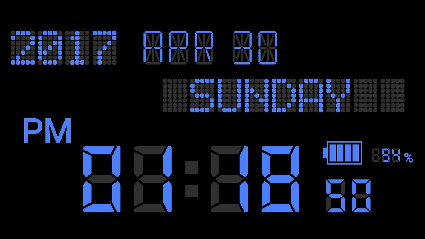 make original digital clock digital clock maker for android apk download. Black Bedroom Furniture Sets. Home Design Ideas
