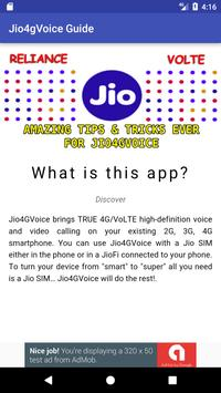 Best Jio4GVoice guide apk screenshot