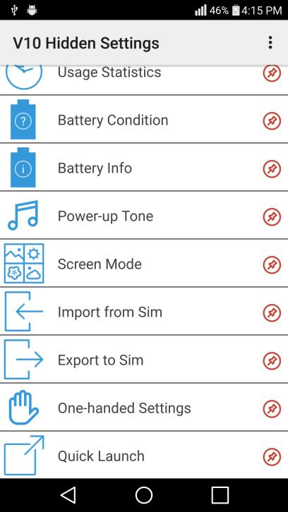 LG V10 Hidden Settings No Root for Android - APK Download