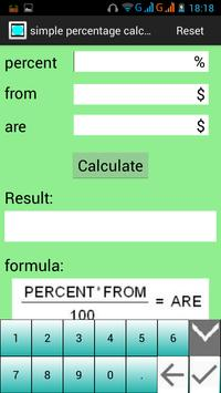 PercentageCalculator screenshot 1