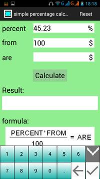 PercentageCalculator screenshot 2