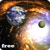 3D Galaxy Live Wallpaper icon