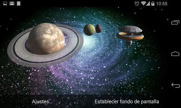 3D Galaxy Live Wallpaper screenshot 18
