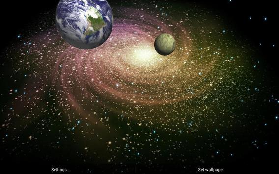 3D Galaxy Live Wallpaper screenshot 19