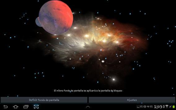 3D Galaxy Live Wallpaper screenshot 11