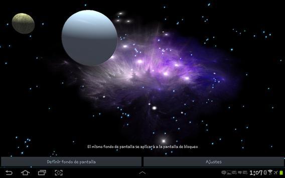 3D Galaxy Live Wallpaper screenshot 22
