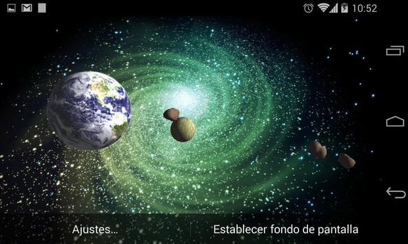 3D Galaxy Live Wallpaper apk screenshot