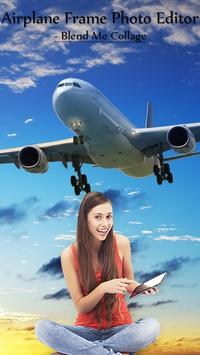 Airplane Frame Photo Editor - Blend Me Collage poster