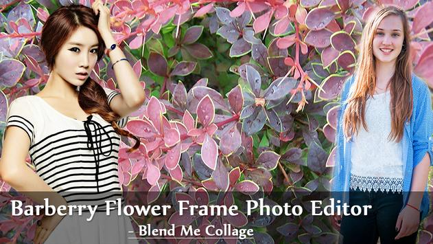 Barbary Flower Frame Photo Editor Blend Me Collage poster