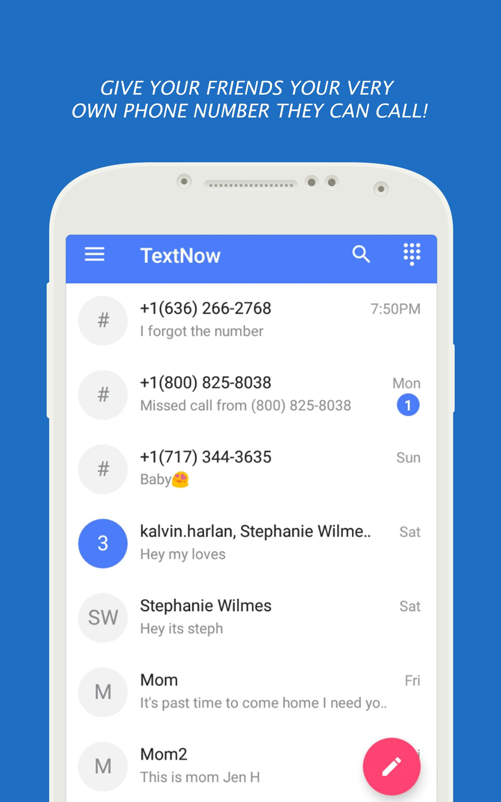 Texting TextNow Call Guide for Android - APK Download