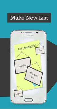 Easy Shopping List poster