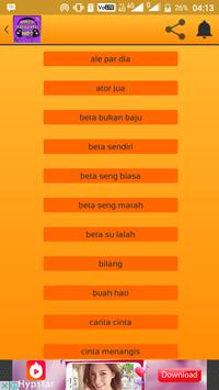 Cinta Menangis Mitha Talahatu Beta Su Lalah Mp3 apk screenshot