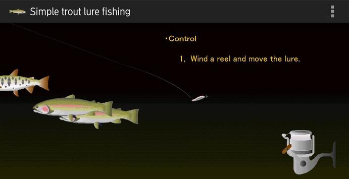 Trout lure fishing poster