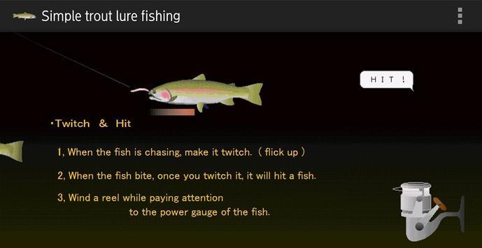 Trout lure fishing screenshot 1