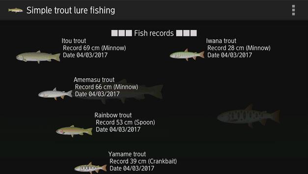 Trout lure fishing screenshot 2