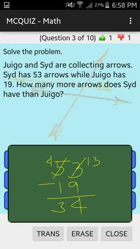 MCQUIZ - Math screenshot 1