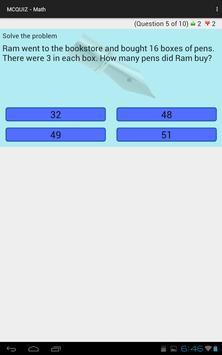 MCQUIZ - Math screenshot 4