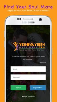 Yehovayireh Christian Matrimony poster