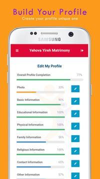 Yehovayireh Christian Matrimony apk screenshot