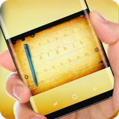 Yellow Notes Drawing Keyboard Theme Notepad icon