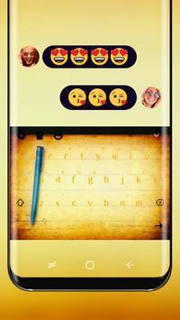 Yellow Notes Drawing Keyboard Theme Notepad poster